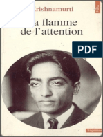 Jiddu Krishnamurti - La Flamme de l Attention- Jericho