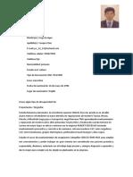 curriculum vitae Jorge Enrique Vasquez Rios