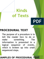different kinds of text