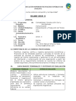 SILABO INTERPRETACION DE TEXTO SEMESTRE 2019 - II
