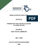 RESOLUCIÓN DE CONFLICTOS ACT 2