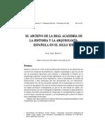 EL ARCHIVO DE LA REAL ACADEMIA DE LA HISTORIA Y LA ARQUEOLOGÍA ESPAÑOLA EN EL SIGLO XIX..pdf
