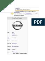 historia Nissan