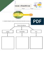 Guía zonas climaticas 3° basico