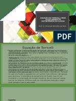 Equação Torricelli