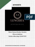 Catálogo Ropa Interior.