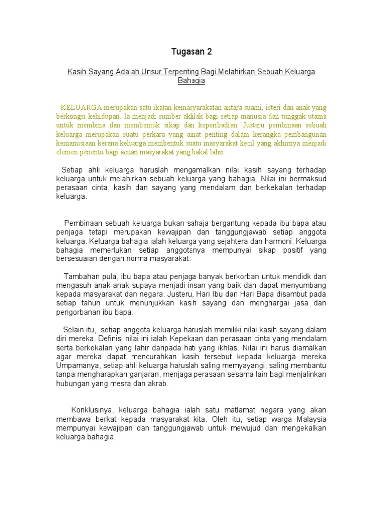 Contoh Cerpen Kasih Sayang Terhadap Keluarga Brad Erva Doce Info