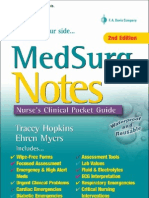 MedSurg Notes - Nurse's Clinical Pocket Guide (FA Davis, 2007)