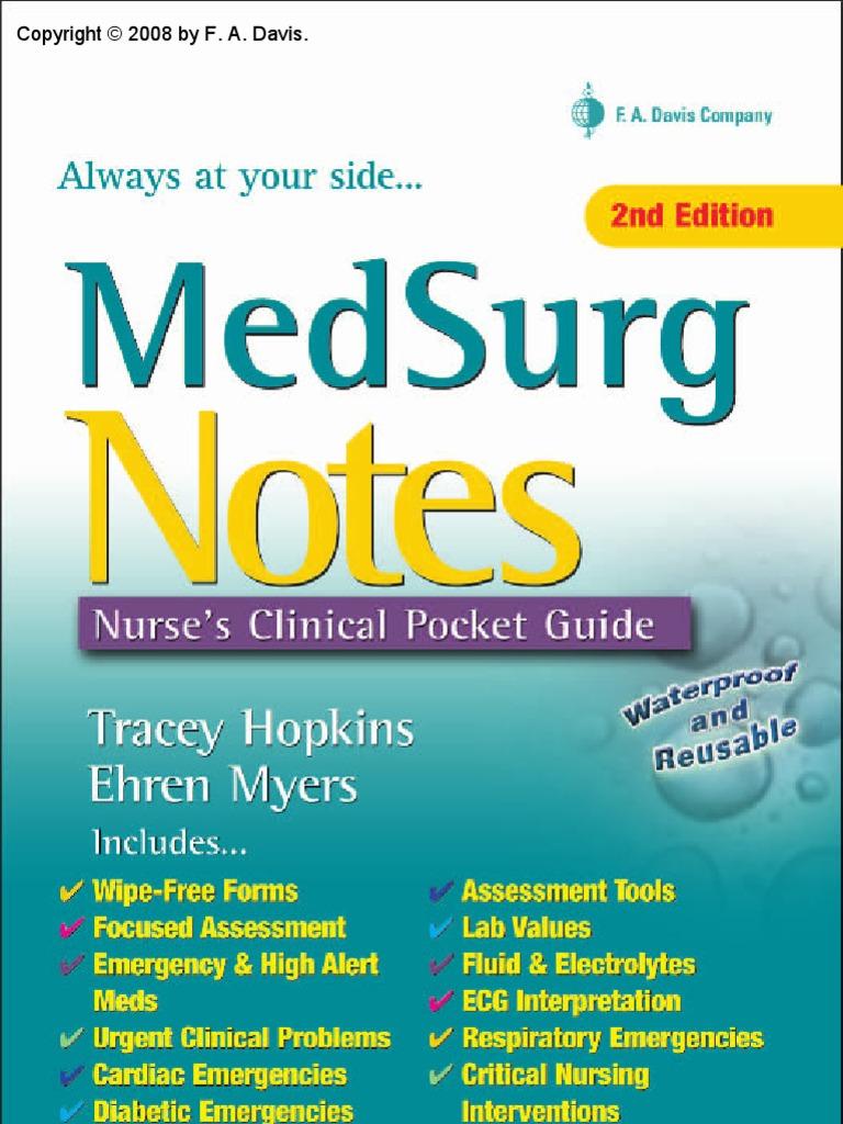 MedSurg Notes - Nurse's Clinical Pocket Guide (FA Davis, 2007)   Nursing    Pain