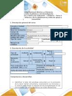 Guía de actividades y rúbrica de evaluación - Tarea 3 - Los trastornos en el contexto social y las redes de apoyo.docx