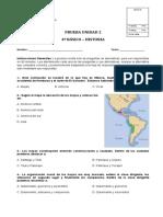 PRUEBA DE LA UNIDAD 2 HISTORIA Y GEOGRAFIA 4º BASICO