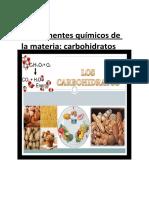 Componentes químicos de la materia