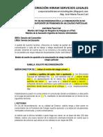 Modelo Escrito Reconsideración Insuficiente Reducción Pensiones Colegio Particular - Autor José María Pacori Cari