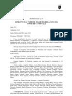 Comune Roma 30 Luglio 2010 Delibera 75 Cosap Canone Occupazione Suolo Pubblico OSP