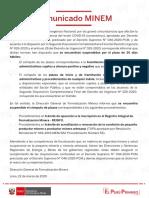 Comunicado_dia7 - MINEM