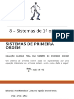 7 - Sistema Primeira Ordem  -