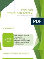 TOXICOLOGÍA GENERAL 1