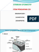 Sistem Pengapian CDI Terdiri Dari 6 Komponen