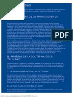 Teología sistemática - Teología propia- La Trinidad