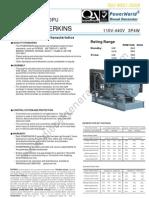 Perkins Diesel Generator p640pu 580kw