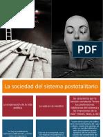 """La sociedad del sistema postotalitario y La confrontación """"prepolítica"""""""