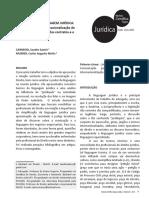 Artigo Linguagem jurídica