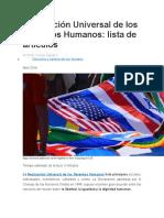 Explicacion de los derechos humanos