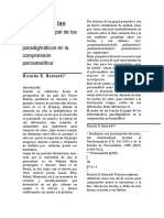 El papel de los determinantes paradigmáticos en la comprensión psicoanalítica