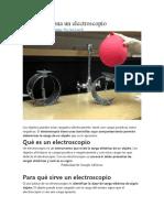 Cómo funciona un electroscopio