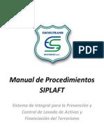 Manual de Procedimientos SIPLAFT Escoltrams Seguridad