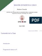 1° - PROGRAMACION ESTADICTICA CON R