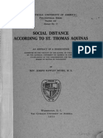 Social Distance according to St. Thomas Aquinas - J. Rawley Myers
