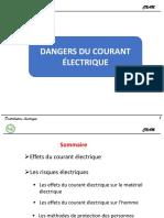 Dangers du courant électrique