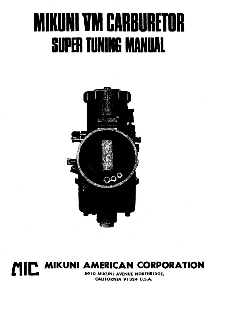 Mikuni vm series manual