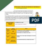 Lectura - Citas textuales y uso de los gestores de referencia FRANCIS VASQUEZ