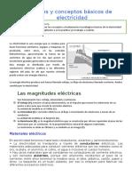 Nociones y Conceptos Básicos de Electricidad