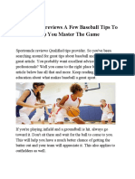 Sportsuncle Reviews a Few Baseball Tips to Help You Master the Game