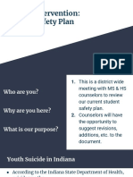 suicide intervention   student safety plan