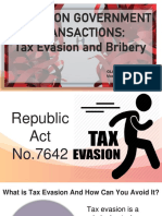 IssuesOnGovTransactions.Tax Evasion&Bribery.GDNilo