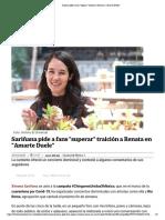 Sariñana pide a fans _superar_ traición a Renata en _Amarte Duele_