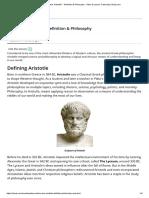 Who was Aristotle_ - Definition & Philosophy - Video & Lesson Transcript _ Study.com