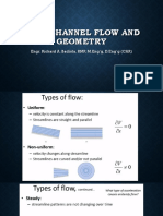 5. Open channel flow and geometry