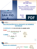 CLASE VIRTUAL ARITMÉTICA MULTIPLICACIÓN Y DIVISIÓN DE IN Y PROPIEDADES - 5TO GRADO