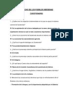 DERECHO DE LOS PUEBLOS INDIGENAS CUESTIONARIO