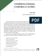 WOLFF, Francis. Dois destinos possíveis da ontologia - a via categorial e a via física.pdf