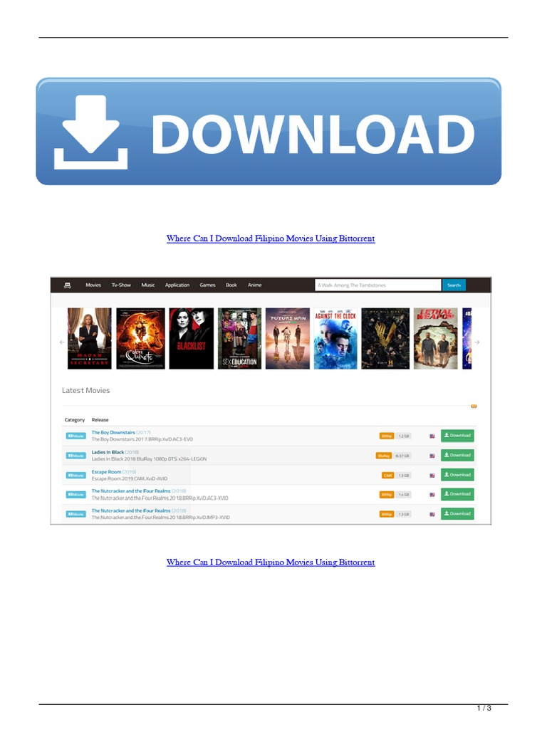 Where Can I Download Filipino Movies Using Bittorrent | Download | Computer  Mediated Communication
