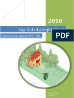 Construction Studies Portfolio, Leaving Certificate 2010- Layout of a septic tank.