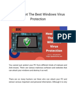 How to Get the Best Windows Virus Protection