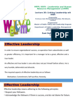 Lecture 20 Linking Leadership with HRM
