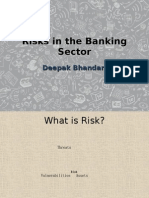 Risks in the Banking Sector